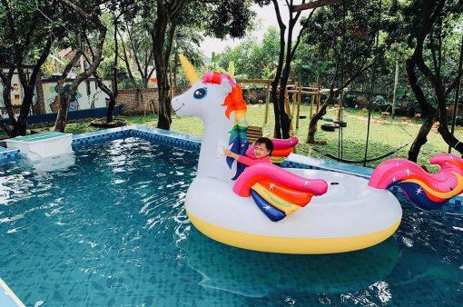 villa có bể bơi ở ba vì