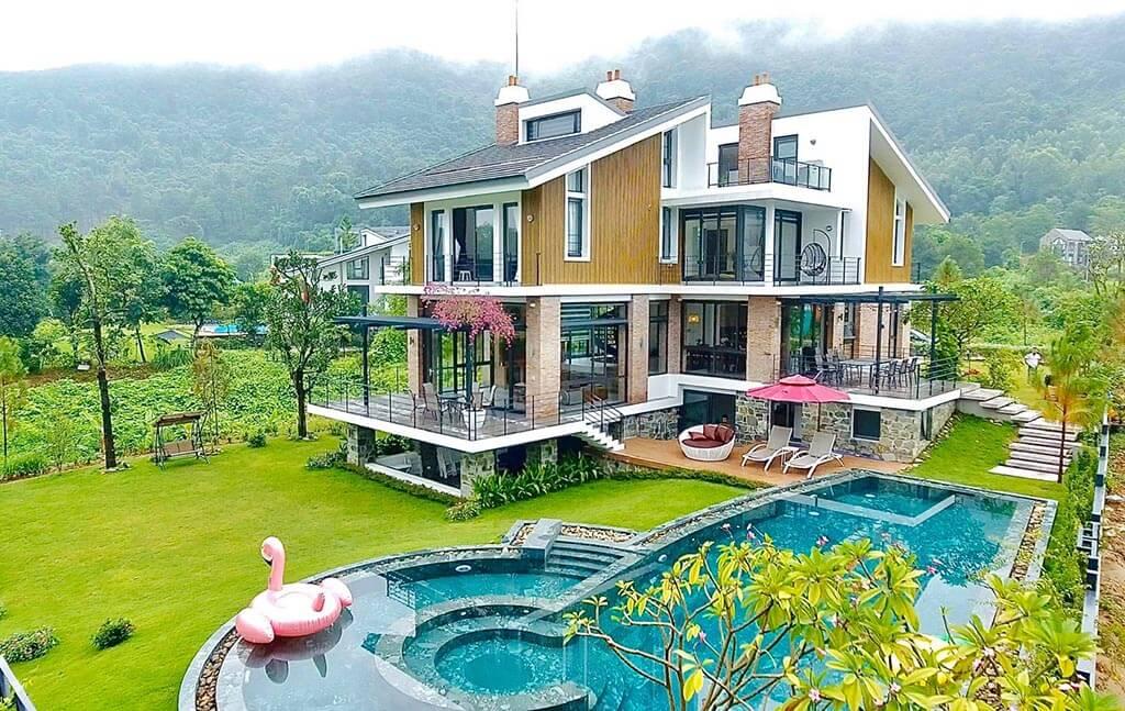 biệt thự nam casa villa tam đảo sân golf