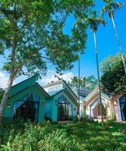 phòng bungalow view vườn may tropical villa ba vì