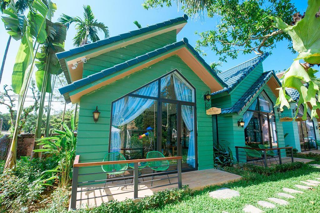 phòng bungalow may tropical villa ba vì căn góc