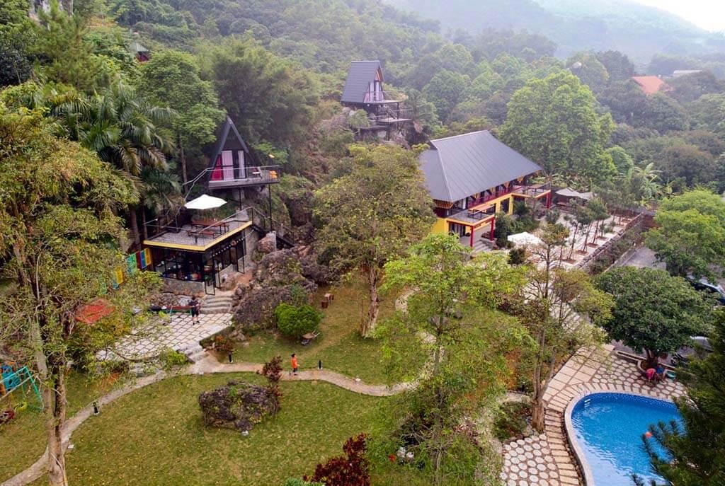 Hình ảnh tổng khu gồm 4 villa